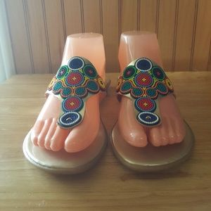 Shoes - Women's beaded sandals